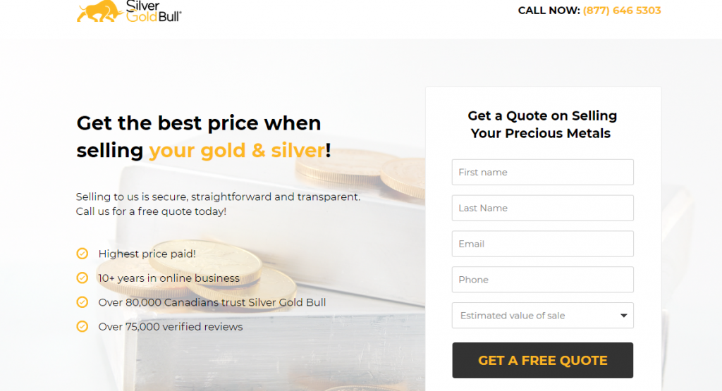 SilverGoldBull selling