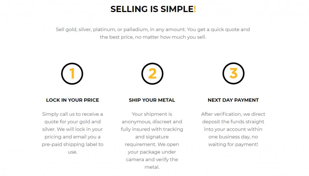 SilverGoldBull simple selling